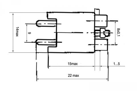 Гнездо двухполюсное малогабаритное МГК 1-1